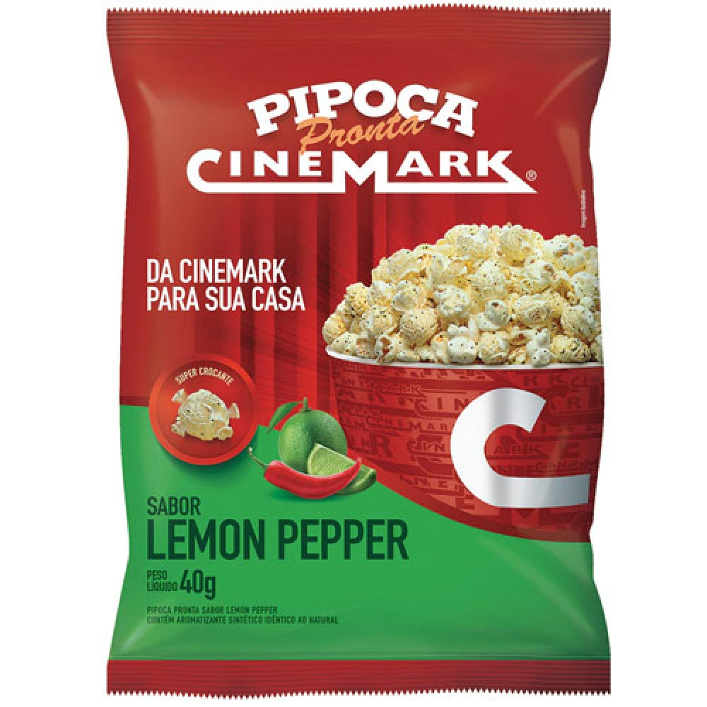 Pipoca Pronta Sabor Lemon Pepper 40g - Cinemark