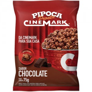 Pipoca Pronta Sabor Chocolate 75g  - Cinemark